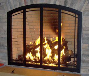 Residential Fireplace Glass