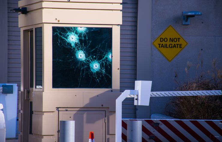 Bullet fired at security check-in with bullet resistant glass | Demers Glass AZ