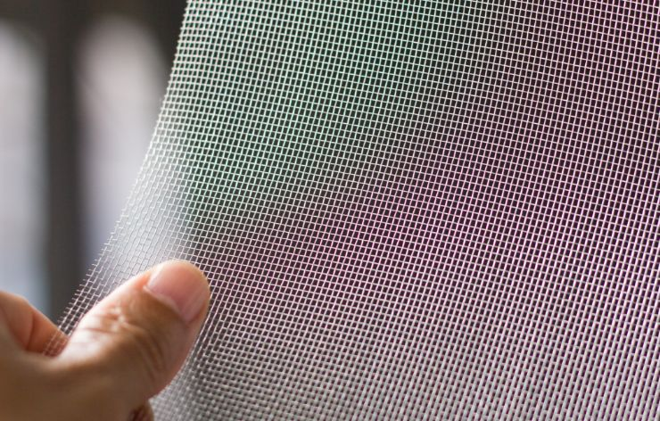 Close up of a screen mesh | Demers Glass AZ