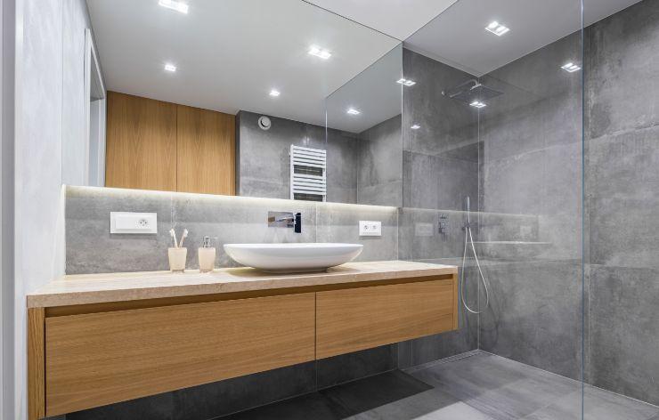Full Wall Bathroom Mirror | Demers Glass AZ